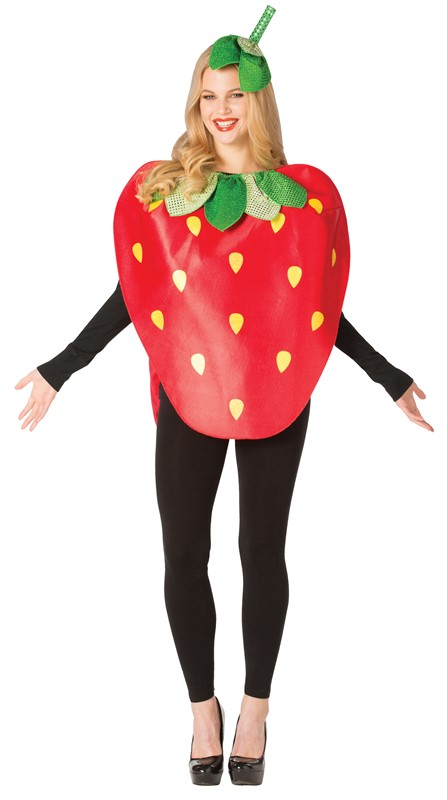 Rasta Imposta Strawberry Berries Fruit Costume Adult One Size