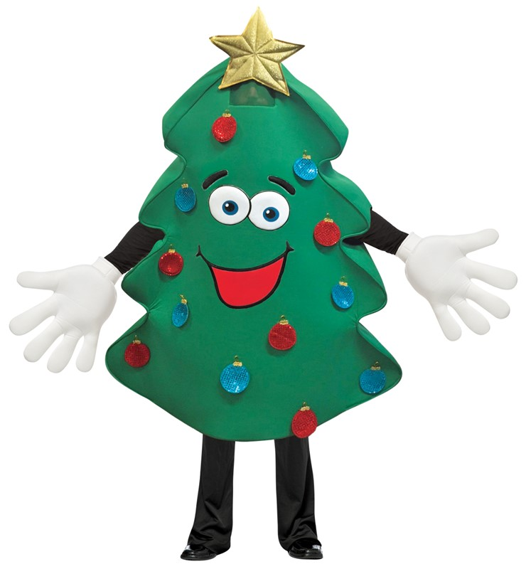 Rasta Imposta Mascot Quality Christmas Tree Costume Deluxe Waver for Promotions Marketing Events