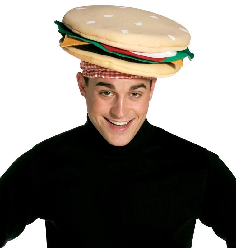 Rasta Imposta Funny Novelty Silly Cheeseburger Hat That Is For
