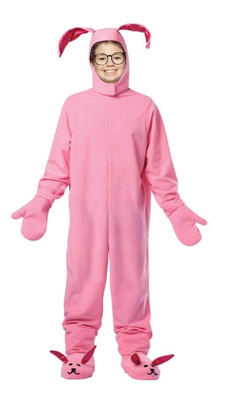 Rasta Imposta Christmas Story Bunny costume Ralphie movie for Halloween dress up party fun humor to fit children 7-10 years old