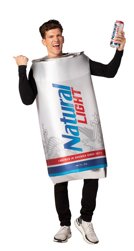 Natural Light Beer Can Costume Unisex Design fits Men Women 21+ of Age