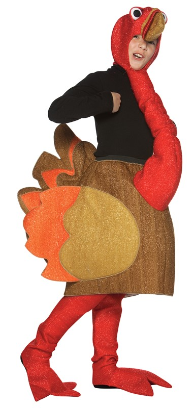 Rasta Imposta Thanksgiving Turkey Kids Costume Gobble Parade Child Size 7-10 Turkey