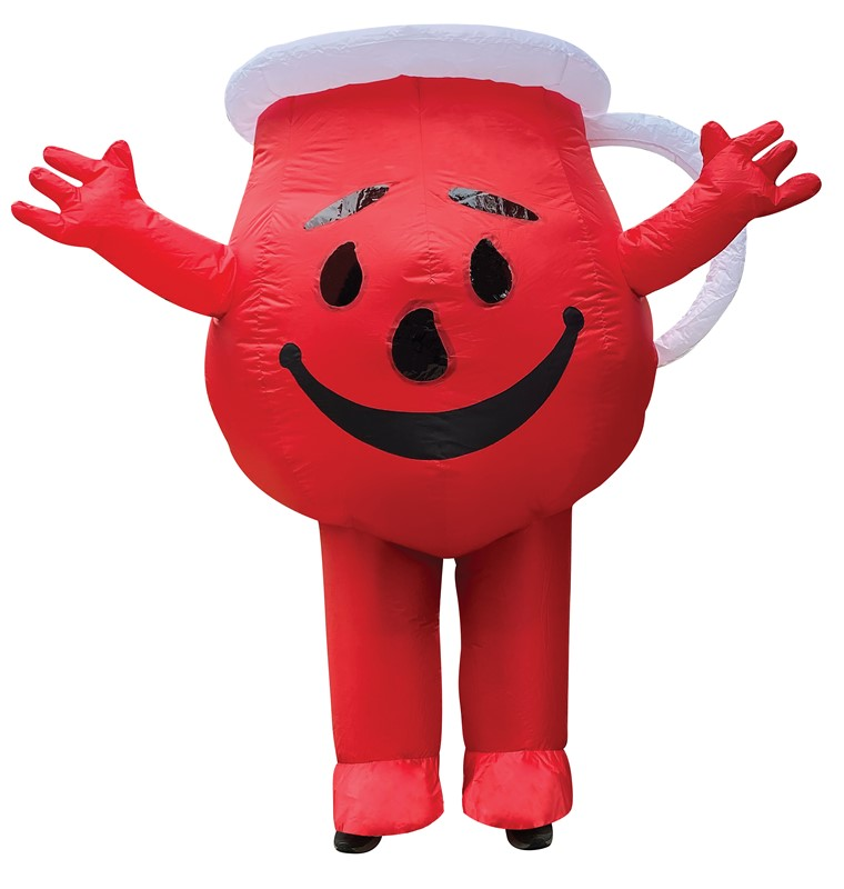 Kool Aid Man Inflatable Red Halloween Costume Adult One Size