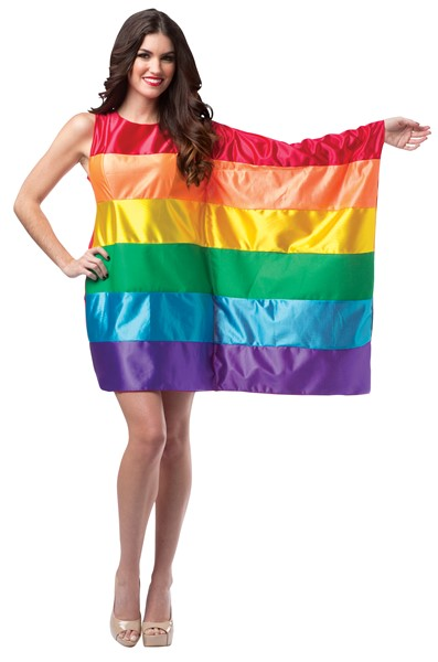 Rainbow Flag Pride Dress Costume, Women's Size 4-8