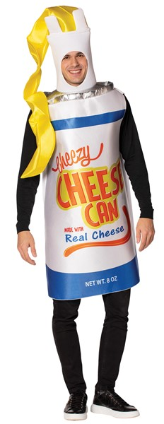 Cheezy Cheese Spray Can Halloween Costume, Adult One Size